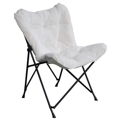 butterfly chair target rocking white nursery faux fur room essentials