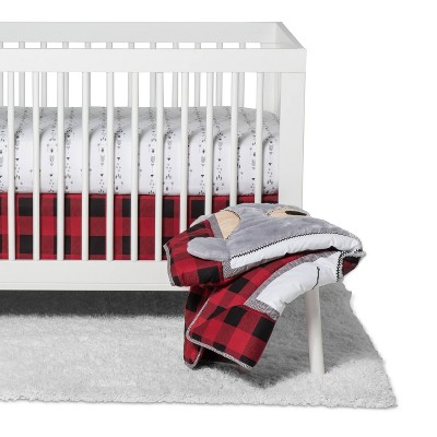 Crib Bedding Set Trend Lab Red