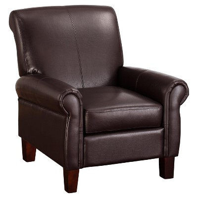 target club chair wooden frames for upholstery uk faux leather espresso dorel living