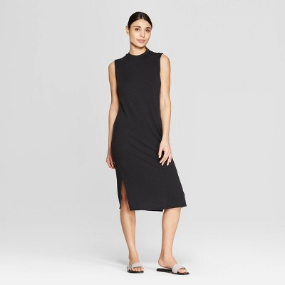 Women's Sleeveless Scoop Neck Midi Bodycon Dress - Prologue™