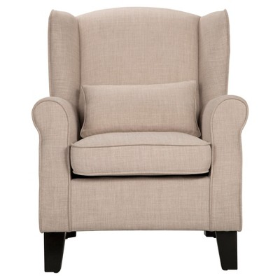 Lewison Wingback Arm Chair Oatmeal - Inspire Q®