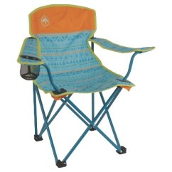Folding Quad Chair Bed Twin Sleeper Coleman Kids With Carrying Case Blue Target
