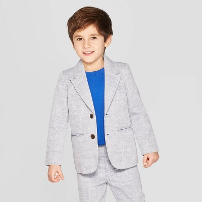 Toddler Boys' Chambray Blazer - Cat & Jack™ Gray