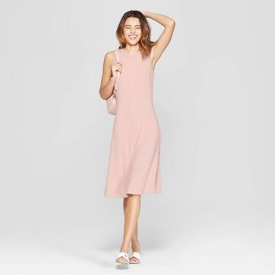 Women's Sleeveless Crewneck Knit Dress - A New Day™ Smoked Pink