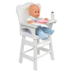 Badger Basket High Chair Green Accent White Rose Doll Target