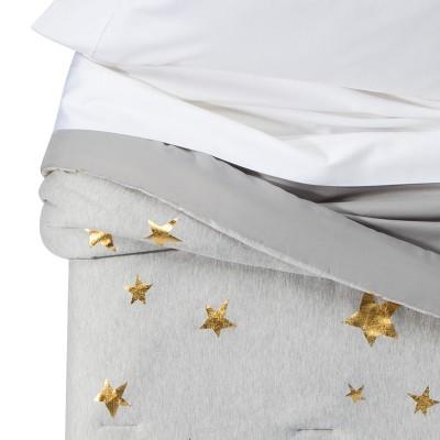 Jersey Stars Comforter (Toddler) Gray & Gold - Pillowfort™