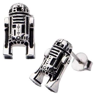 Women's Star Wars' R2-D2 925 Sterling Silver Stud Earrings