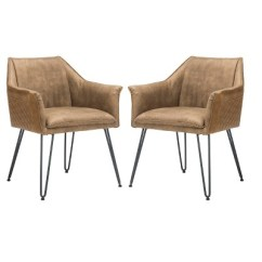 Leather Dining Chairs Modern Big Lots Lawn Set Of 2 Esme 19 H Mid Century Chair Safavieh