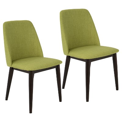 modern green dining chairs what is a slipper chair tintori mid century set of 2 lumisource target