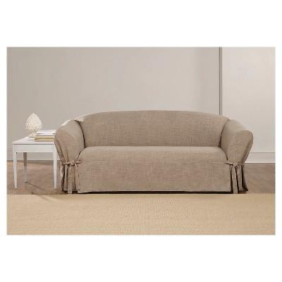 linen sofa slipcover signature design by ashley sagen teal queen sleeper textured sure fit target