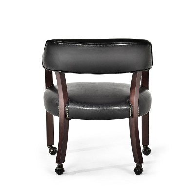 captains chair womb and ottoman tournament with casters black steve silver target