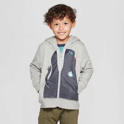 Toddler Boys' Dinosaur Costume Zip-Up Hoodie - Cat & Jack™ Gray
