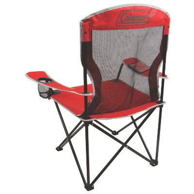 coleman cooler quad chair target wrought iron lounge chairs cool mesh with carrying case red