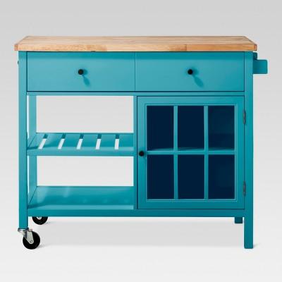 kitchen console mixer machine windham wood top island threshold target