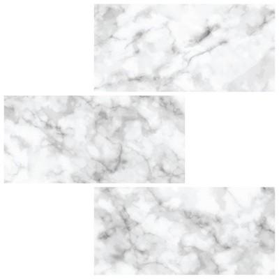 brewster subway carrara peel stick backsplash tile paper white