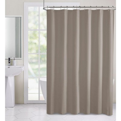 hotel collection heavy weight duty peva shower curtain liner taupe linen