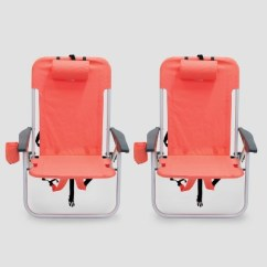 Backpack Beach Chair Target Casters Walmart 2pk Low Folding Coral Room Essentials