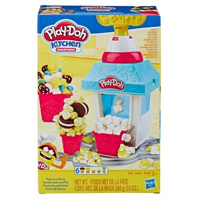 Play-Doh Kitchen Creations Popcorn Party Play Food Set with 6 Non-Toxic Play-Doh Cans