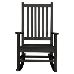 Black Rocking Chairs Chair And Half Sleeper Polywood St Croix Target