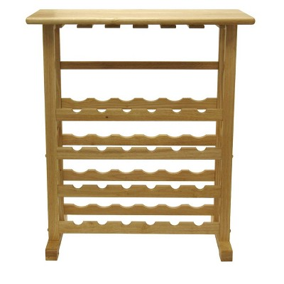 24-Bottle Wine Rack Wood/Beechwood - Winsome