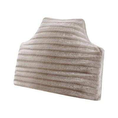 york oversized faux fur headboard pillow gray