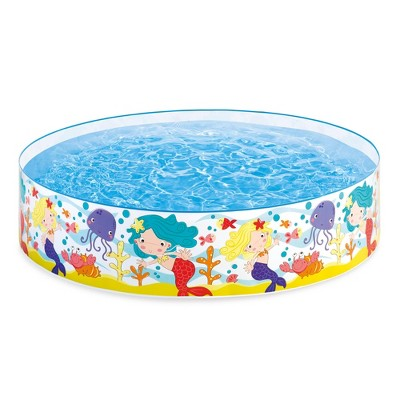 "Intex Mermaids By The Sea Kids 6' X 15"" Instant Kiddie Snapset Swimming Pool"