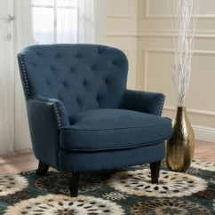 Tafton Club Chair Double Anti Gravity Tufted Dark Blue Christopher Knight Home Target