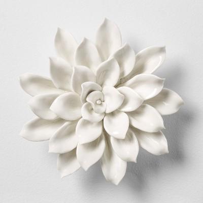 Porcelain Flower Decorative Wall Sculpture Opalhouse