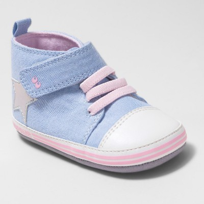 Baby Girls' Surprize by Stride Rite Darla High Top Sneaker Mini Shoes - Chambray Blue