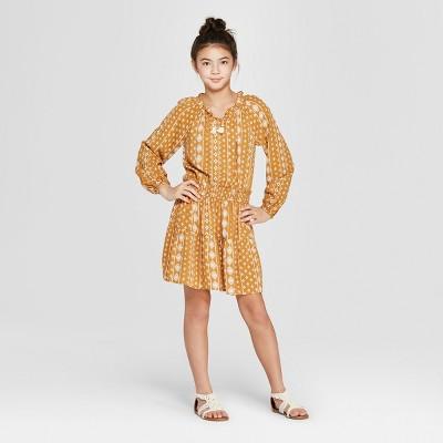Girls' Print Dress - art class™ Yellow