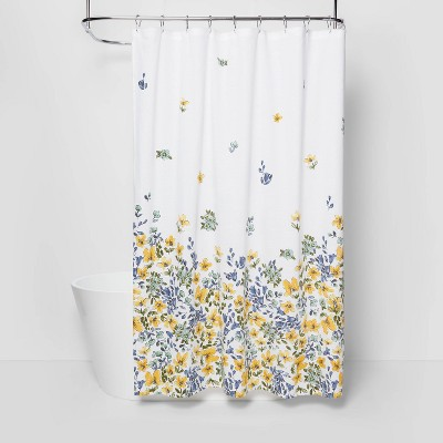 floral print shower curtain gold medal threshold