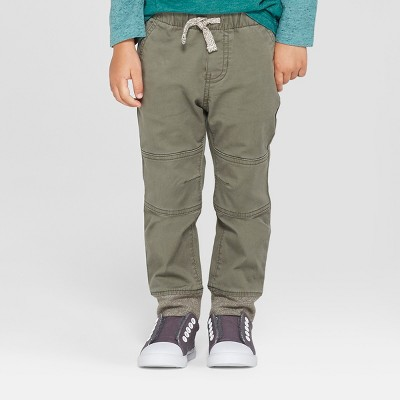 Toddler Boys' Reinforced Knee Jogger Fit Pull-On Pants - Cat & Jack™ Green