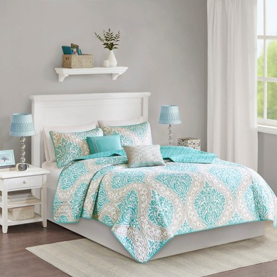 Chelsea Damask Quilted Coverlet Set