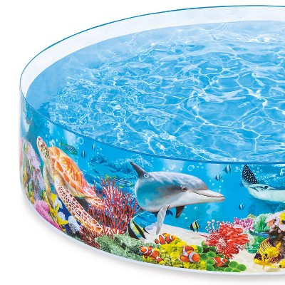 Intex 58472Ep Snapset Kiddie 8 X 8 Foot Instant Swimming Pool, Deep Sea Blue