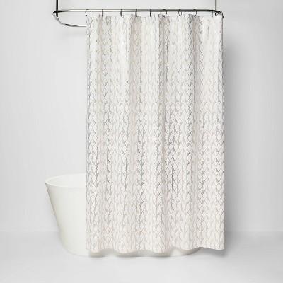 diamond shower curtain white project 62