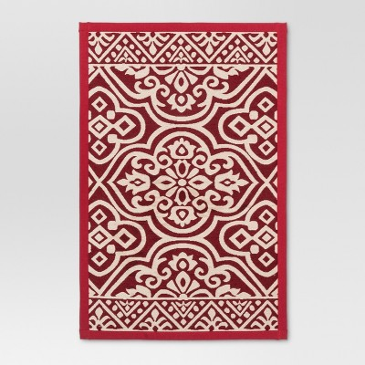 "34""x20"" Woven Floor Mat Red - Threshold™"