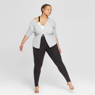 Women's Plus Size High Waist Lounge Leggings - Colsie™ Black