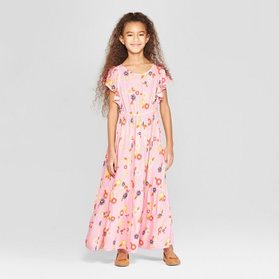 Girls' Woven Maxi Dress - Cat & Jack™ Pink