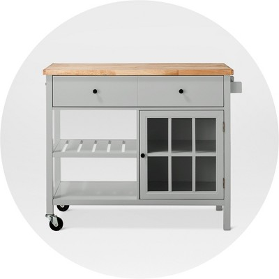 microwave cart with storage target online