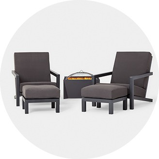 hawthorne oversized sling chairs mini lounge hanover patio furniture target firepit sets