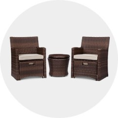 Where To Buy Wicker Chairs High Chair Wooden Legs Patio Furniture Target Small Space