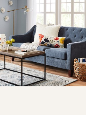 one arm sofa name gray chairs sofas sectionals target 76 are great for small spaces while 89 bigger can anchor a larger room browse
