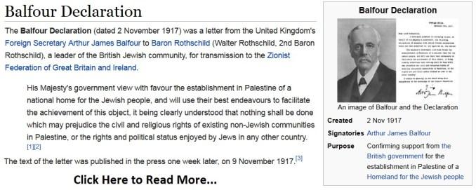 Balfour Declaration Pic