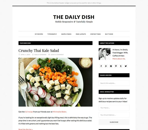 Genesis Daily Dish Pro Theme by StudioPress