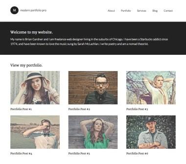 Genesis Modern Portfolio Pro Theme by StudioPress