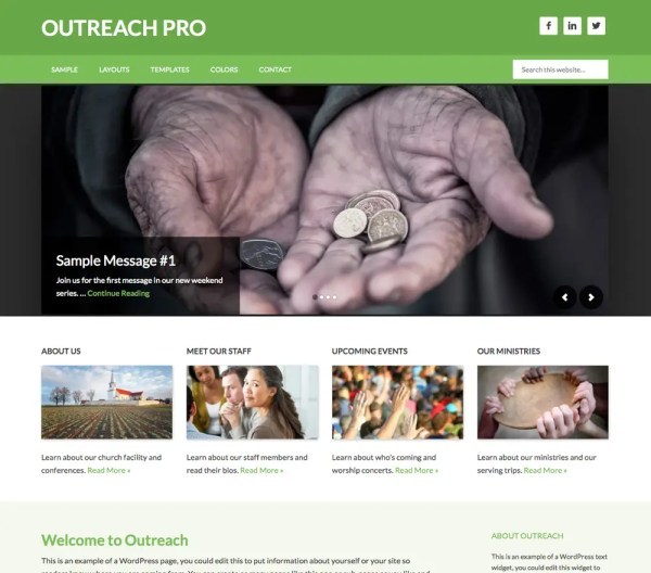 Genesis Outreach Pro Theme by StudioPress