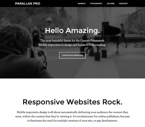 Genesis Parallax Pro Theme by StudioPress