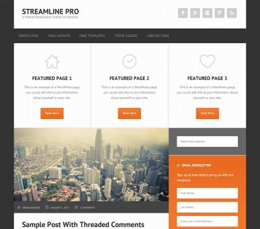 Genesis Streamline Pro Theme by StudioPress