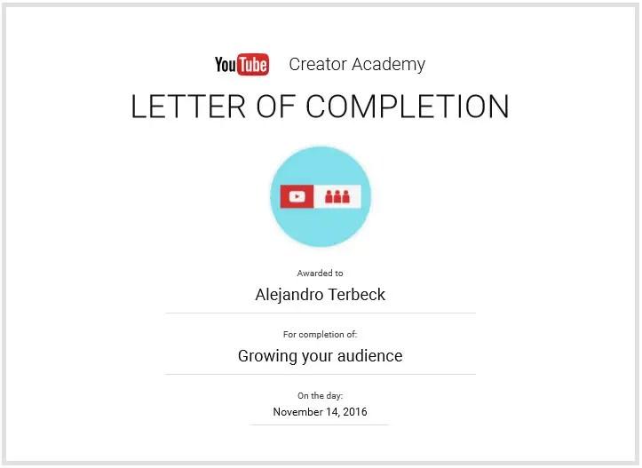 hacer crecer tu audiencia certificado