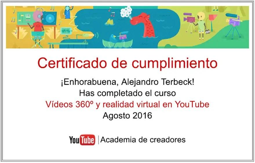 imagen certificado video360 youtube